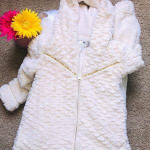 Girls Widgeon Winter White Dress Coat Size 6